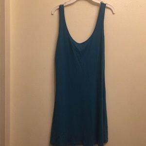 Blue mid length F21 dress